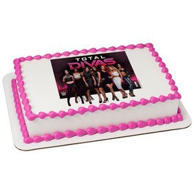 Wwe Divas Edible Icing Image Cake Topper 6 Inch Round