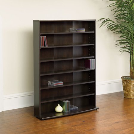 Sauder O'Sullivan Multimedia Storage Tower, Cinnamon - Media Cabinets With Glass Doors