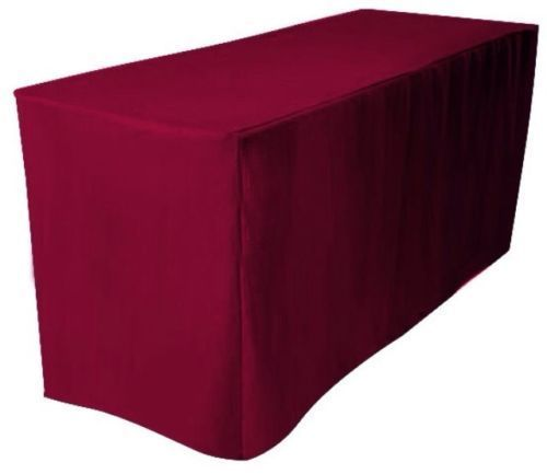 4/' ft Fitted Polyester Table Cover Wedding Banquet Event Tablecloth 21 COLORS