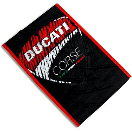Ducati Corse Sticker - Ducati Corse Sketch Logo Beach Towel Black 987695091