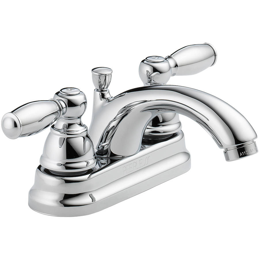 Peerless P299675LF 2-Handle Chrome Lavatory Faucet with Pop Up Drain