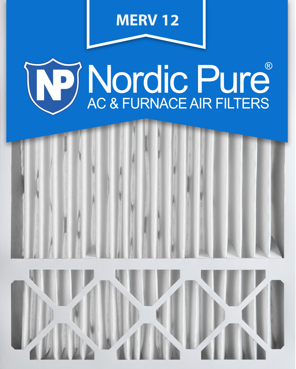 Nordic Pure 10x25x1CustomM7+C-6 MERV 7 Carbon AC Furnace Filters 6 Piece