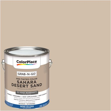 Desert Sand Finish Wall (ColorPlace Pre Mixed Ready To Use, Interior Paint, Sahara Desert Sand, Semi-Gloss Finish, 1)