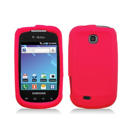 Red Skin Cover Case for Samsung Dart - T499 Silicone Cover