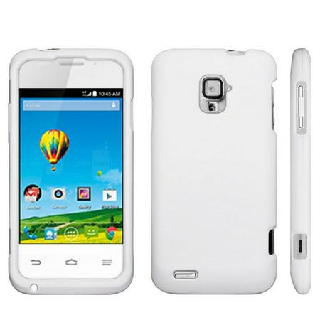 check out 5fd7a efda7 C&E Protective Case For ZTE Rapido LTE Z932L White Rubber Feel