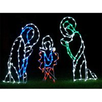 Winterland WL-GM101-LED LED Three Piece Nativity Scene Ground Mount