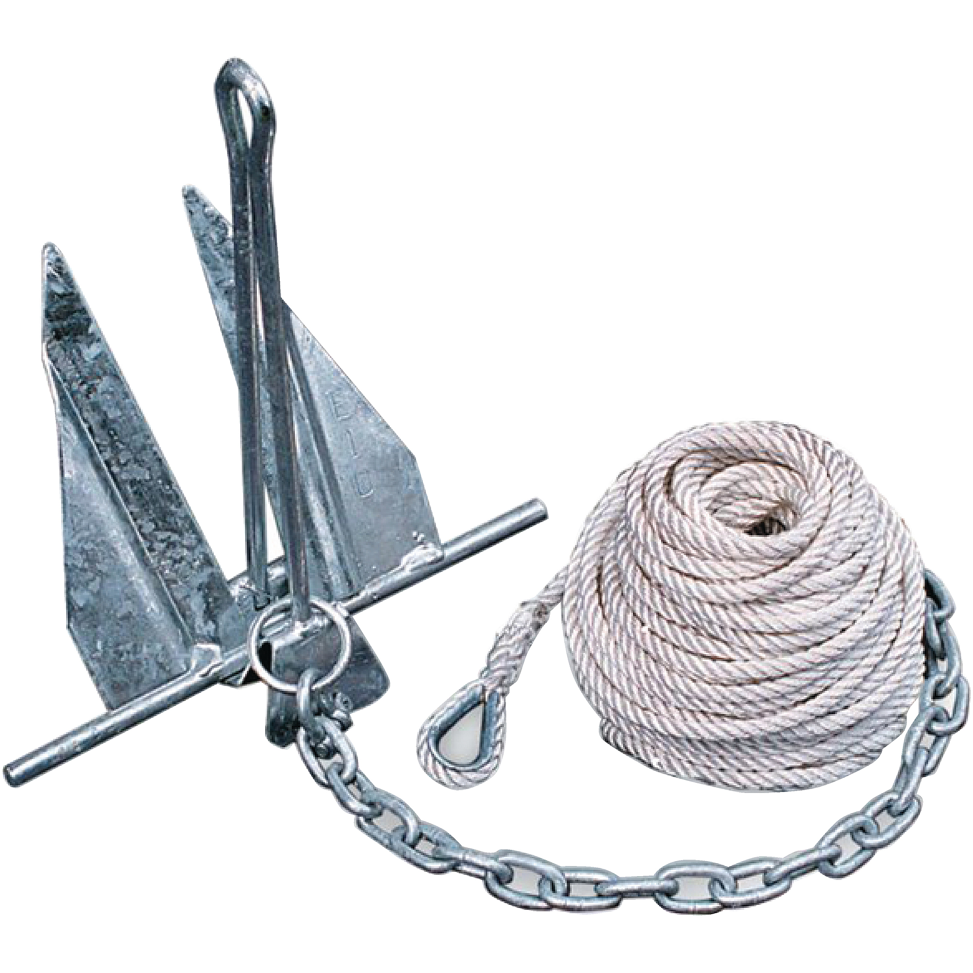 Tie Down Engineering Quik-Set Hooker Anchor Kit Includes 5# Anchor, Anchor Line, Anchor Chain and 2 Shackles