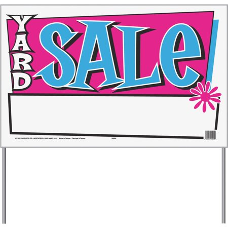 Hyko Prod. 26x16 Yard Sale Bag Sign 24203 - Baby Announcement Signs For Yard
