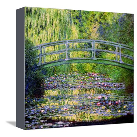 The Waterlily Pond with the Japanese Bridge, 1899 Stretched Canvas Print Wall Art By Claude Monet