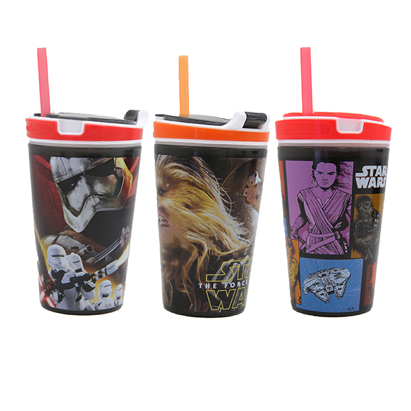 (3 Pack) Snackeez Star Wars 7 Movie Edition Jr Sippy Cup by Idea Village