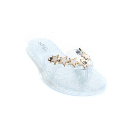 e7bcbc987e46 Soho Shoes Women s Star Jelly Flip Flop Sandal - Walmart.com