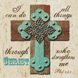 "Night Light Insert-I Can Do All Things-Philippians 4:13 (4"" Square)"