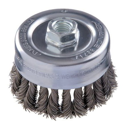 "Image of 3-1/2"" Combitwist Knot Cup Brush .014 Cs Wire 5/"