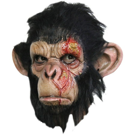 Infected Chimp Latex Mask Adult Halloween Accessory