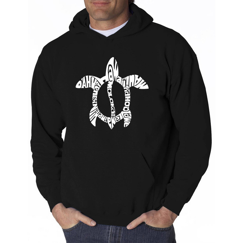 Los Angeles Pop Art Men's Hooded Sweatshirt - Honu Turtle - Hawaiian Islands