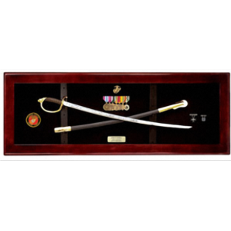 USMC NCO Sword Display Case, Sword Cases, Marine Sword frame - Flag Frames