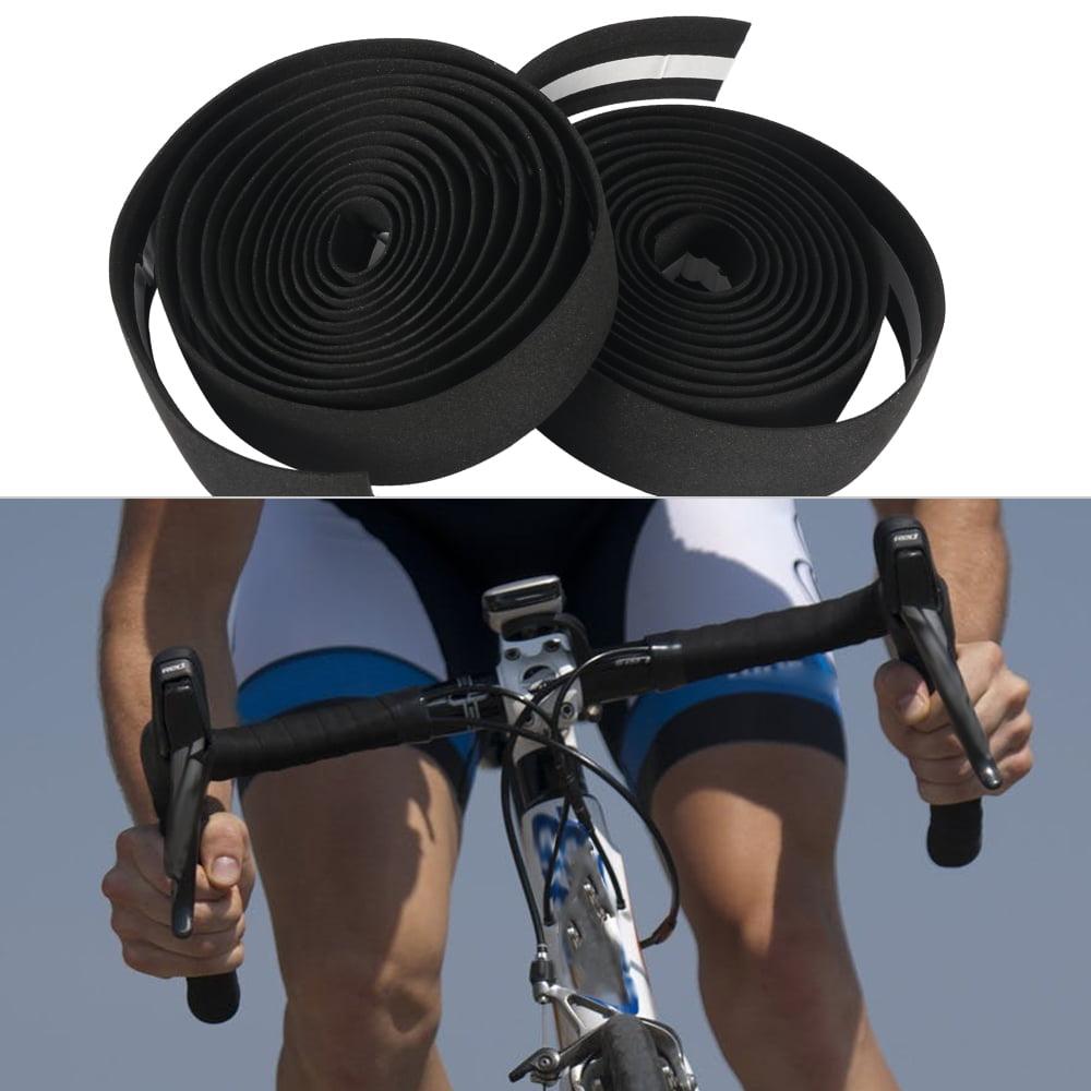 Handlebar Tape Racing Bike Bicycle Cycling Sport Soft Padded Bar Grip Bar Plugs