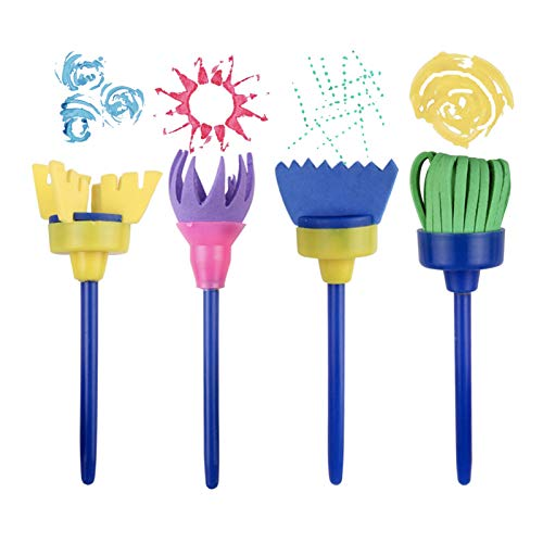 21 PCS Kids Painting Brushes Set Sponge Painting Brushes Drawing Paint Tools Set