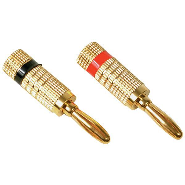 RCA Deluxe Banana Plugs, 2pk