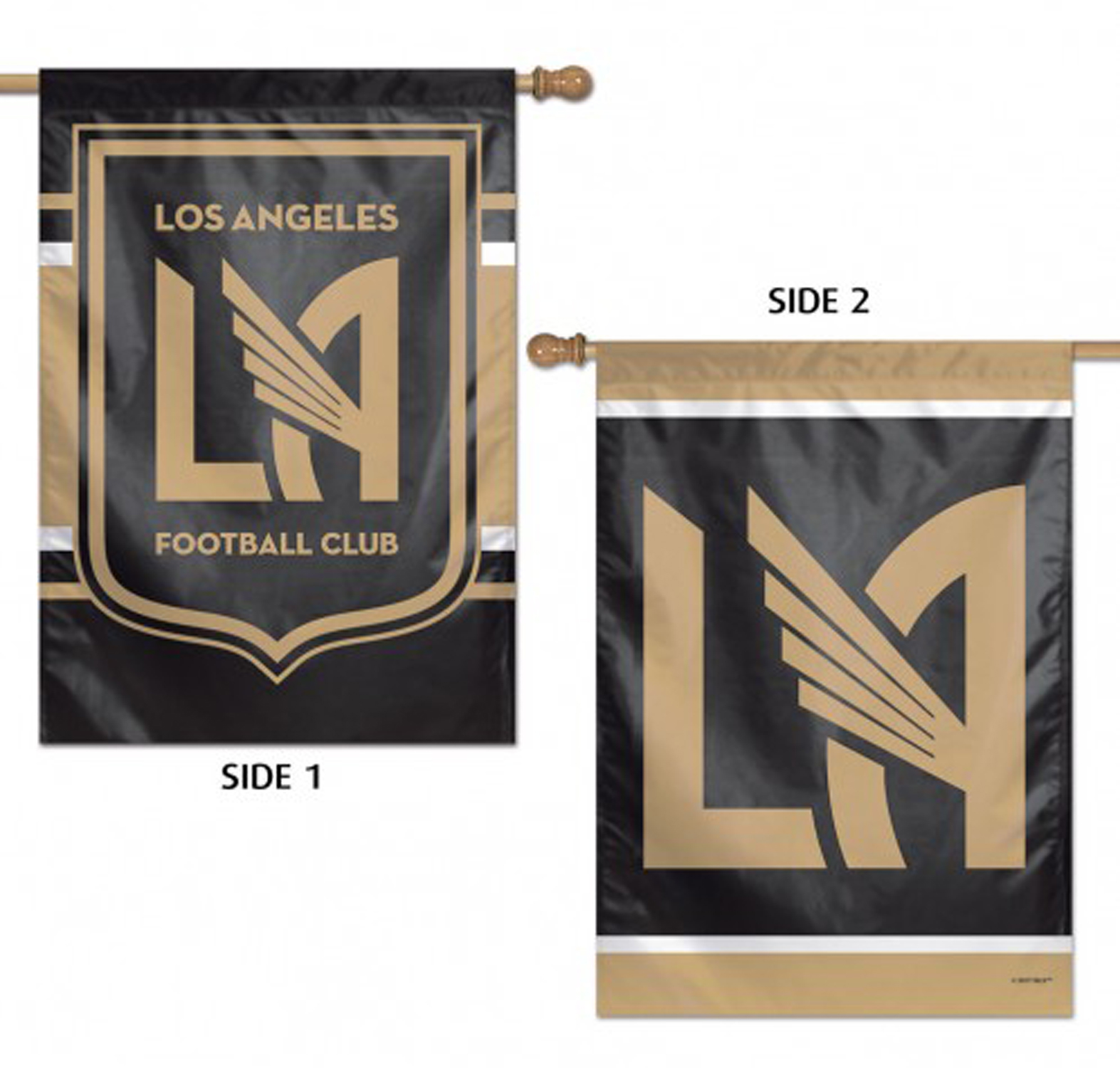 "Los Angeles FC Double Sided MLS House Flag Licensed Soccer 28"" X 40"""