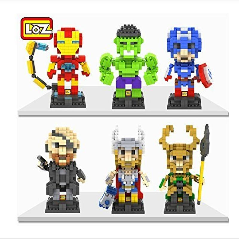 LOZ The Avengers Set Pack of 6 Iron Man Captain America Thor Loki Hulk and Fury Nanoblock... by