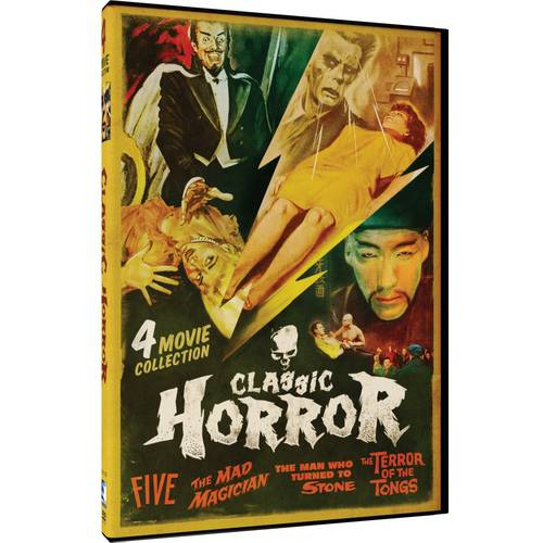 Classic Horror : Four Movie Collection Five The Mad Magician Man Who Turned To Stone Terror Of The Tongs... by Mill Creek Entertainment