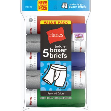 Hanes Toddler Boys? Underwear Boxer Briefs, 5-Pack (Boys Toddlers)