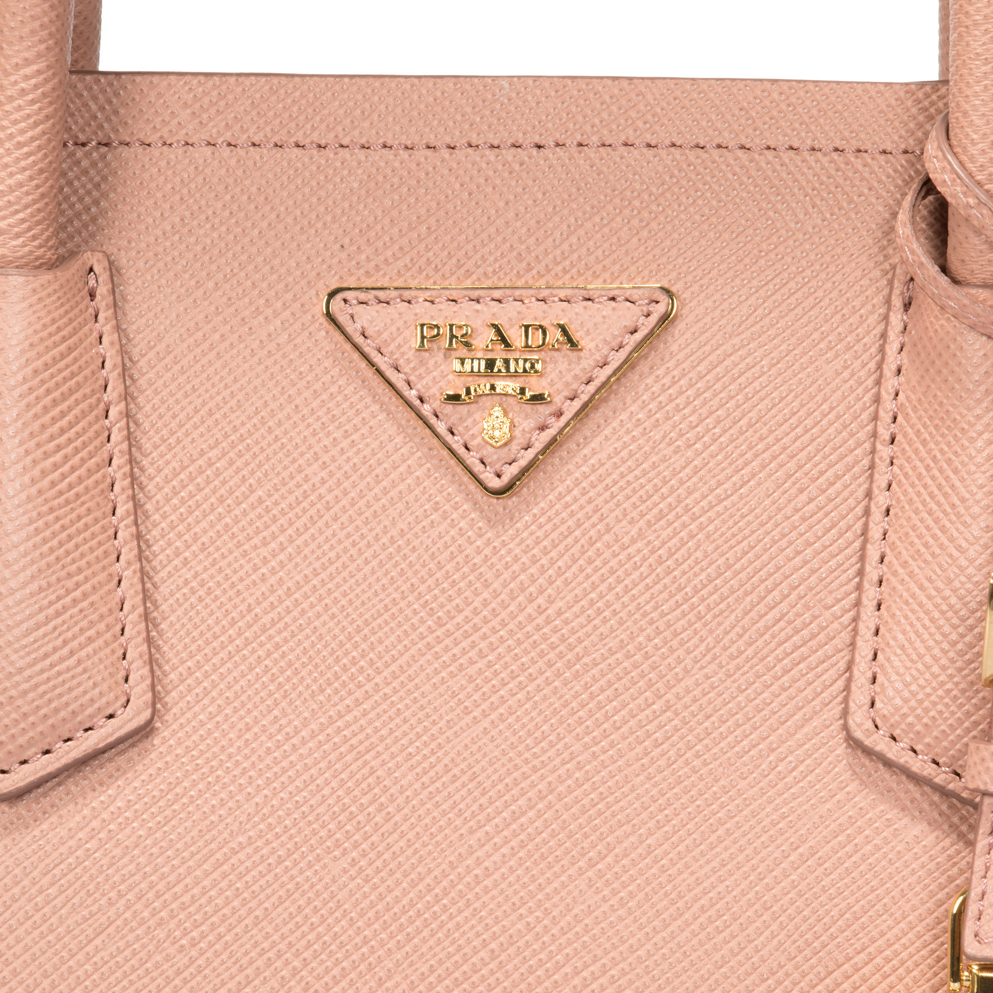 a25d71184e4e Prada - Prada Double Saffiano Leather Tote In Cammeo - Walmart.com