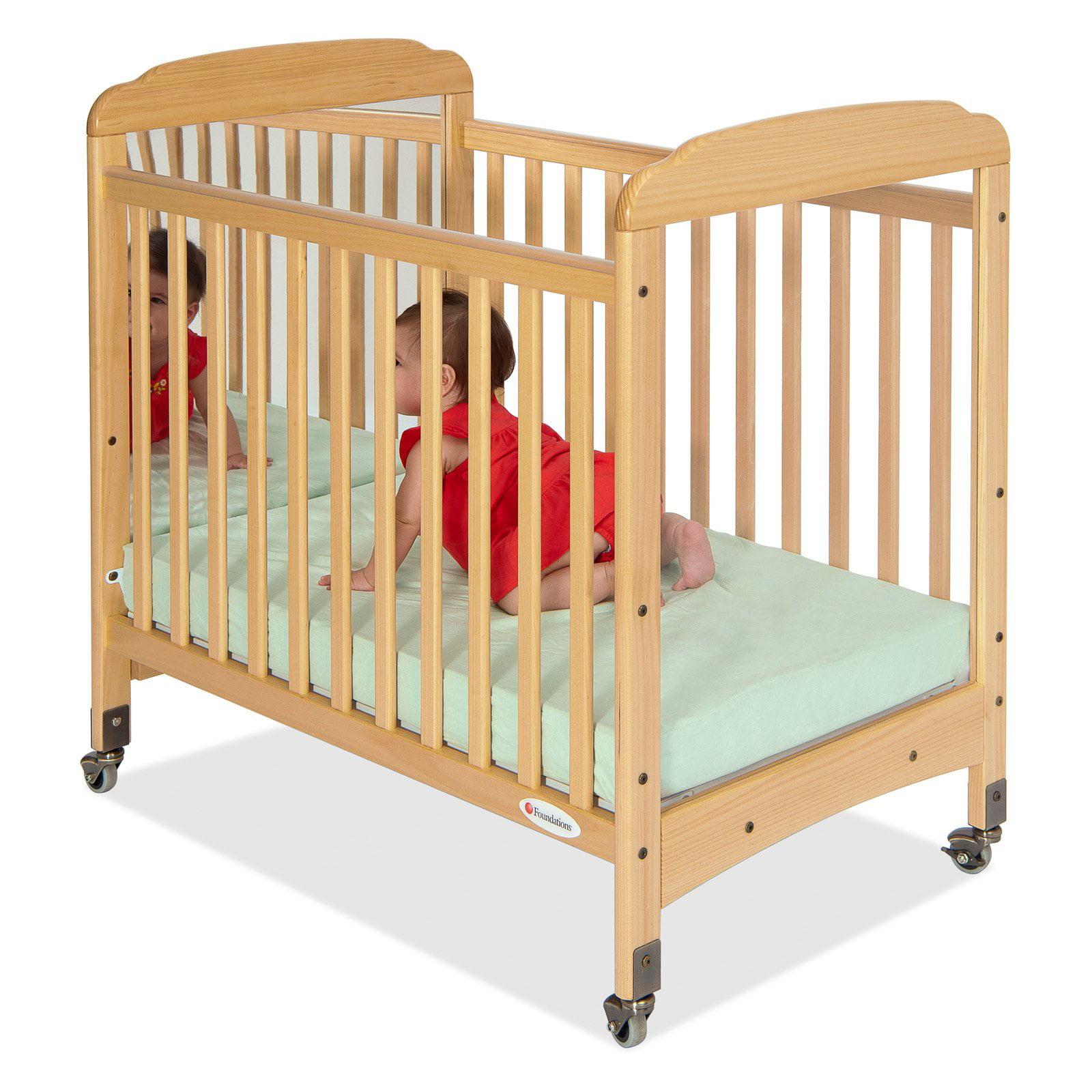 Foundations Serenity Mirror End Compact Crib - Natural