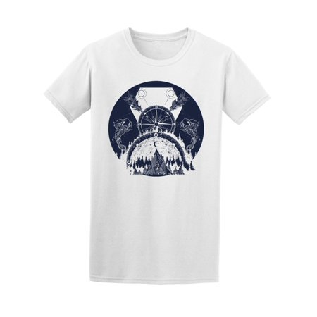 Boho Style Medieval Mountains Tee Men's -Image by Shutterstock](Cheap Medieval Clothing)