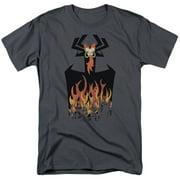 Samurai Jack World In Flames Mens Short Sleeve Shirt