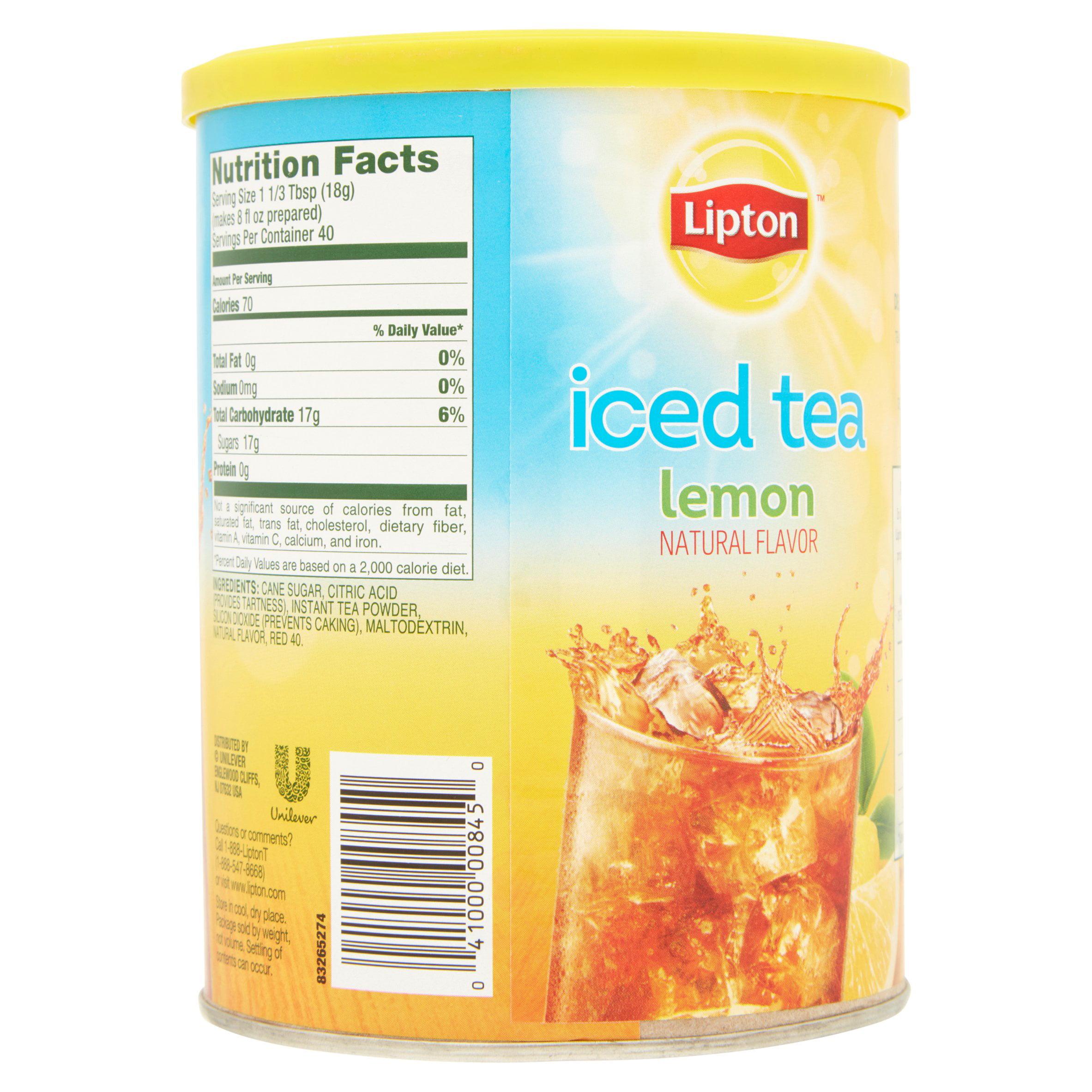 Iced Tea Nutrition Facts Lipton