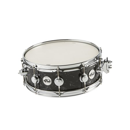 - DW Collector's Series FinishPly Snare Drum Black Velvet with Chrome Hardware 14x5