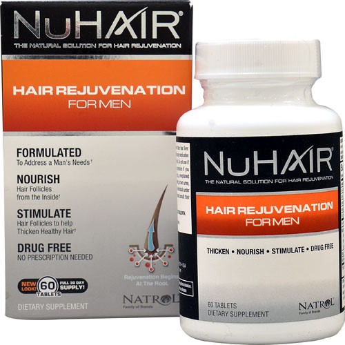 NuHair Hair Regrowth For Men, 50 tablets