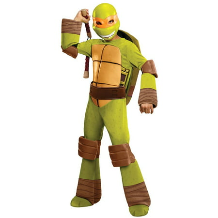 TEENAGE MUTANT NINJA TURTLES MICHELANGELO DELUXE CHILD COSTUME - Kids Teenage Mutant Ninja Turtle Costume