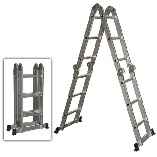 Multi Purpose Aluminum Ladder Folding Step Ladder Scaffold Extendable Heavy Duty