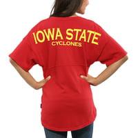 Iowa State Cyclones Women's Spirit Jersey Oversized T-Shirt - Cardinal