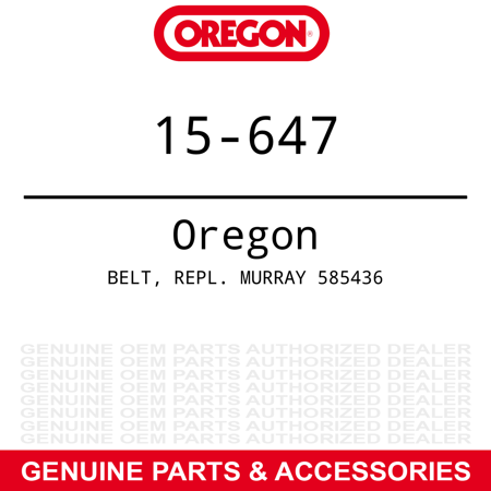 31 Black Track (Oregon Drive Belt Murray 31
