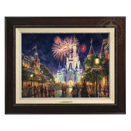 Thomas Kinkade Main Street, U.S.A.® Walt Disney World® Resort - Canvas Classic (Espresso -