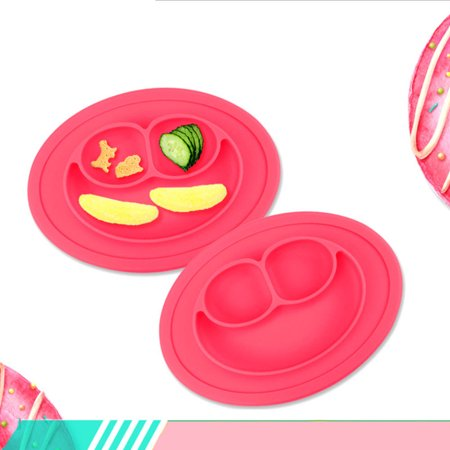 Highly Durable Cute Bowl Silicone Mat Baby Kids Child Suction Table Food Tray Placemat - Raffia Table Mats