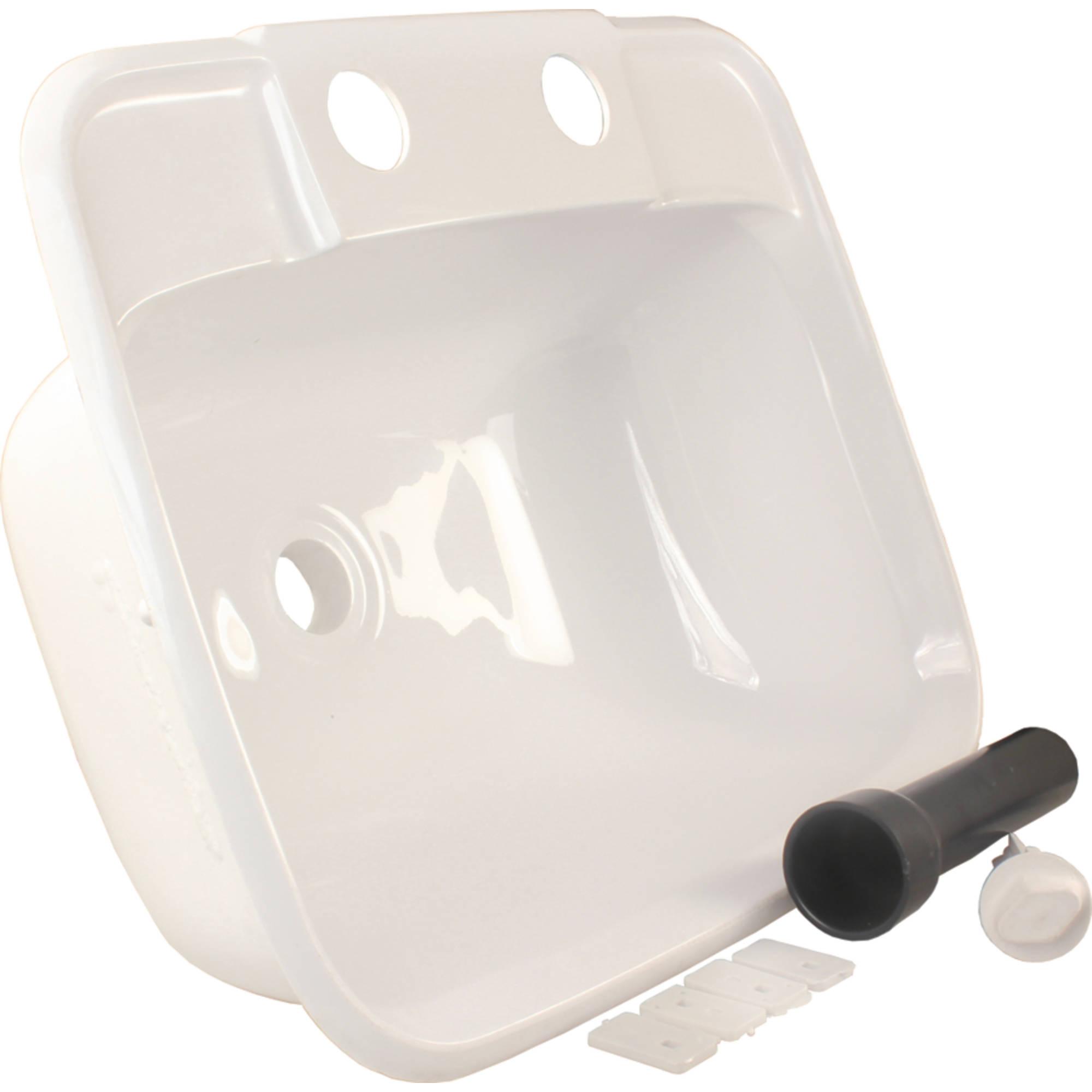 Bathroom Sinks Walmart jr products 95351 white molded rv lavatory bathroom sink - walmart