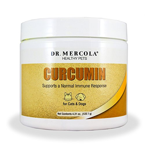 Dr. Mercola Curcumin for Pets - Supports A Normal Immune Response - For Cats & Dogs - Made In The USA - Highly Bioavailable - Highly Absorbable - 4.31 oz