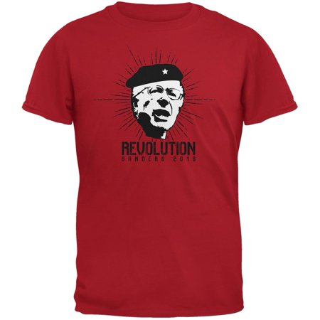 Election 2016 Bernie Sanders Che Guevara Parody Red Adult T-Shirt for $<!---->