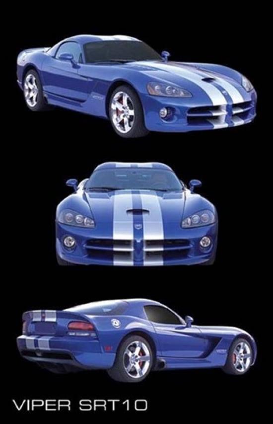 2004 DODGE VIPER POSTER Amazing Collage RARE NEW 24X36