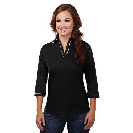 Tri-Mountain Allure 133 Cotton Fashion Jersey, 3X-Large, Black/White (80s Apparel)