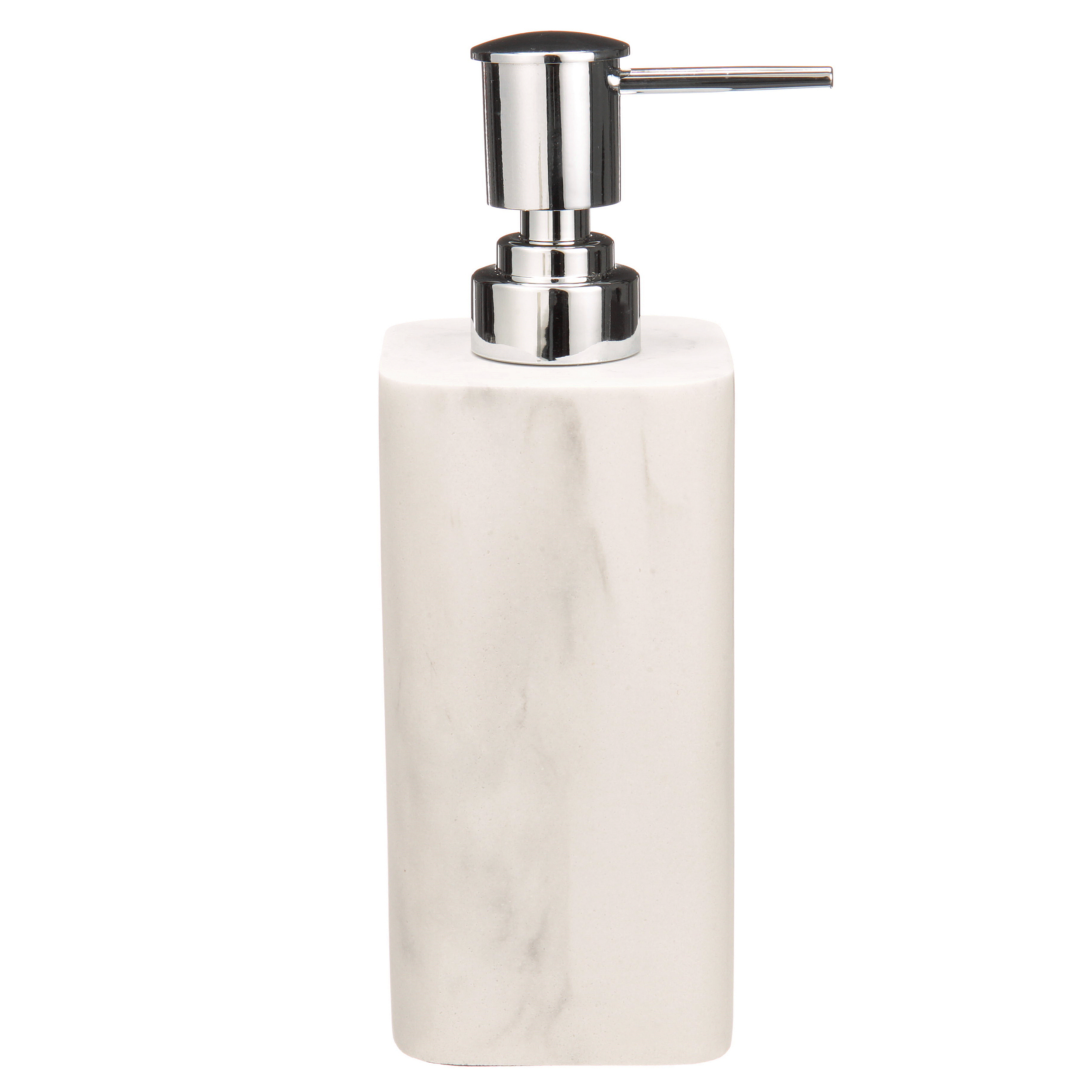 4 Piece Grey Faux Marble Ceramic Bathroom Accessory Set W Stainless Steel Pump