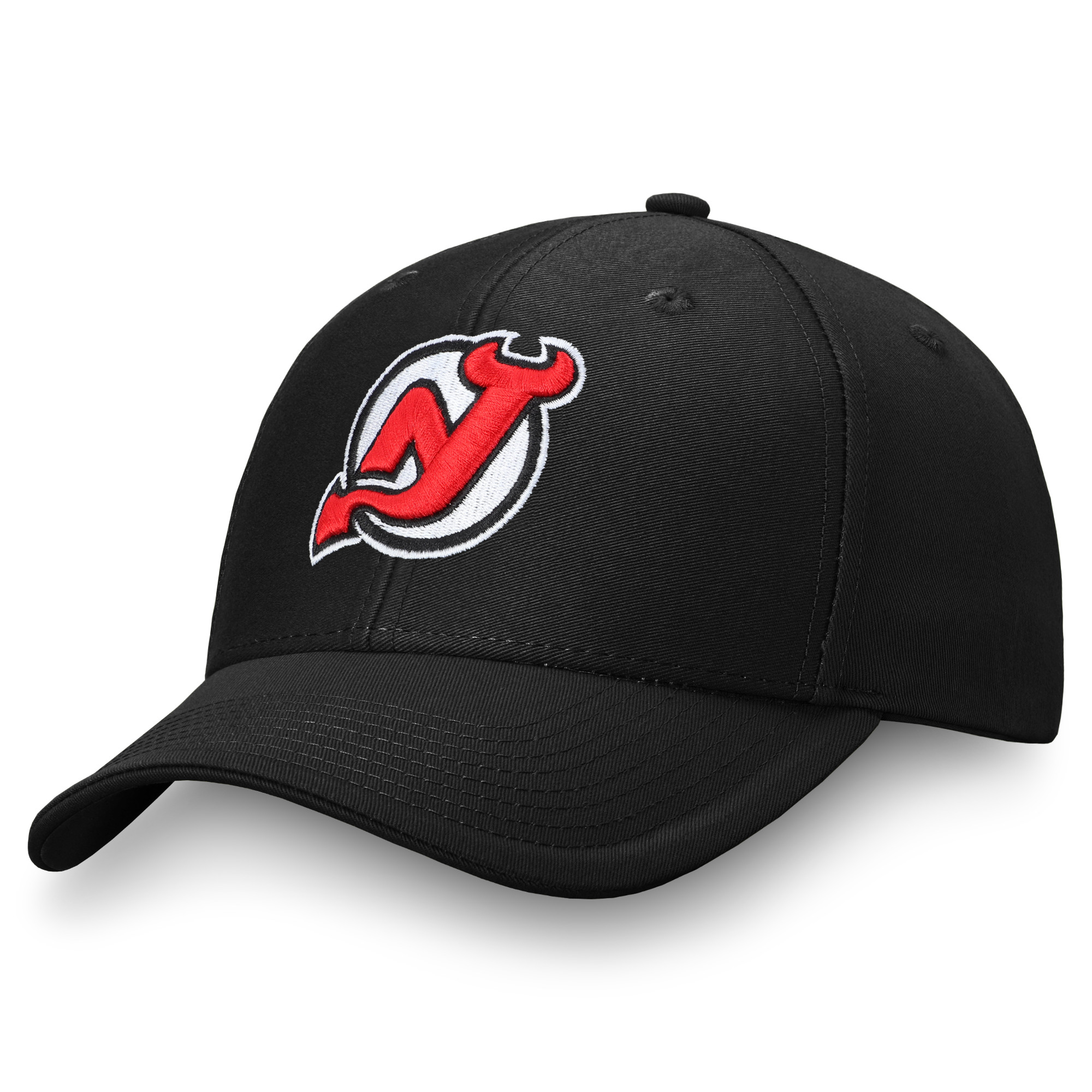 Men's Fanatics Branded Black New Jersey Devils Adjustable Hat - OSFA