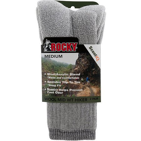 Rocky Wool Blend Hiker Socks 2-Pack