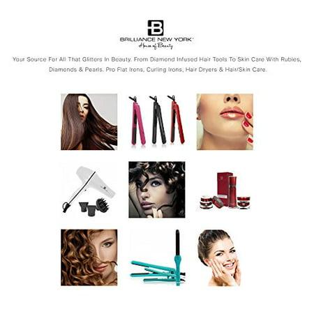 Brilliance New York Pro Flat Iron Hair Straightener w/ 1″ Diamond Titanium