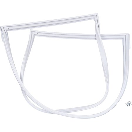 Genuine Whirlpool 8201809 Door Gasket for Refrigerator Refrigerator door gasket. If this gasket is worn out, cold air will leak out of the refrigerator, and the refrigerator will have to work harder to cool down. As a result, the refrigerator may run longer than usual, or frost may accumulate inside of the refrigerator.
